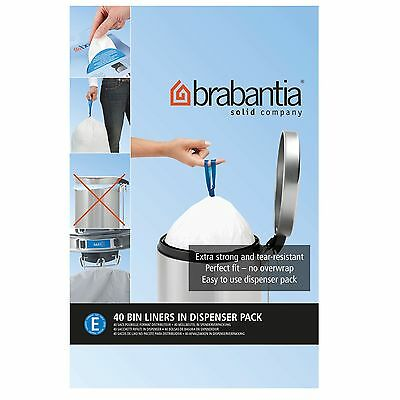 Brabantia Forty 20 Litre Perfect Fit Bin Liners Size E From Debenhams