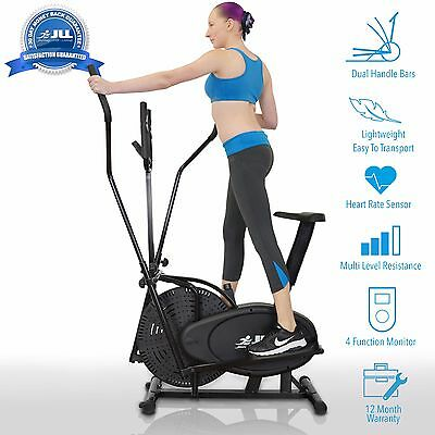 JLL® CT100 Home 2 in 1 Elliptical Cross Trainer Exercise Bike Cardio Workout
