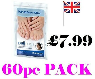 Graham Hands Down Ultra Nail & Cosmetic Pads x 60 Pads Handsdown