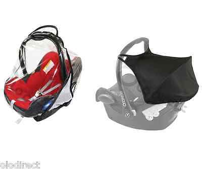 HOOD SUNSHADE CANOPY Raincover Belts strap cover fit MAXI COSI CABRIOFIX  BLACK