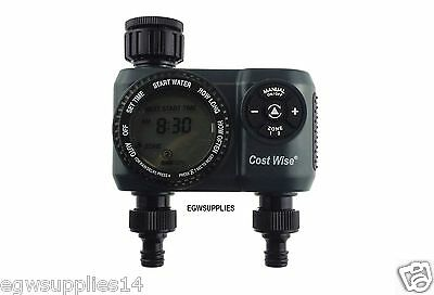 Programmable Automatic Watering Two Outlet Garden Irrigation Water Timer