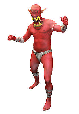 Halloween LifeSize MONSTER MORPH JAW DROPPER RED ADULT MEN Large Costume