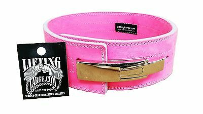Pink Competition 10mm Powerlifting Lever Belt - IPF Approved Crossfit
