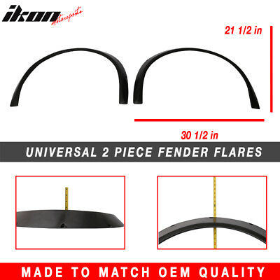 2.5 Inch Universal Fender Flares 2 Piece Pair Made Out of Flexible Polyurethane