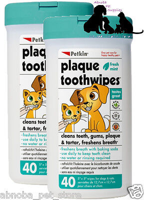 Plaque Remover Toothwipes Cleans Teeth Gums Freshens Breath Dog Cat Vet Approved