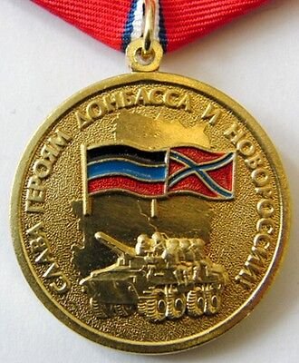 Medal GLORY TO THE HEROES OF DONBASS AND NOVOROSSIYA LNR DNR + Document