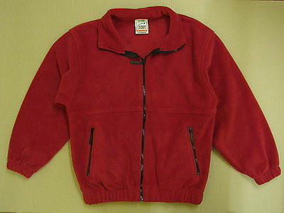 Fruit Of The Loom Kids Red Fleece Jacket Various Sizes Childrens  Brand New