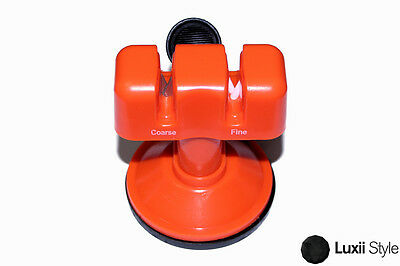 Counter-top Knife Sharpener with Suction Pad Dual Coarse and Fine Slots Knives