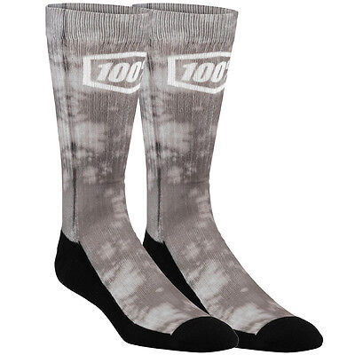 100 Percent NEW Bionic Skate Sock Pair Athletic BMX MTB 100% Deluge Grey Socks