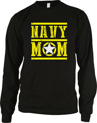 Navy Mom Mother Star Armed Forces Military Patriotic USA 2-tone Hoodie Pullover