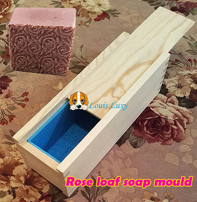Premium ROSE wood loaf soap mould silicone mold double lids holds 1kg soap