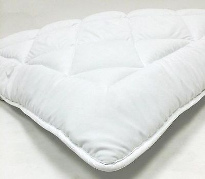 Reversible Down Alternative Mattress Topper Pad with Straps Twin Full Queen King