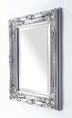 Vintage Style Wall Mirror French Wooden Antique Shabby Best Sell Silver Frame