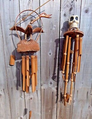 Fair Trade Hand Made Bamboo Wooden Wood Duck Windchime Wind Chime Mobile