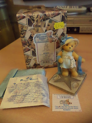 VINTAGE BOXED retired cherished teddies TEDDY BEAR ornament BETTE EVENT PIECE