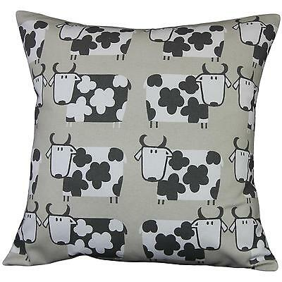 "Cushion cover in Moo Moo Linen cow fabric 17"" / 43cm square. 100% cotton"