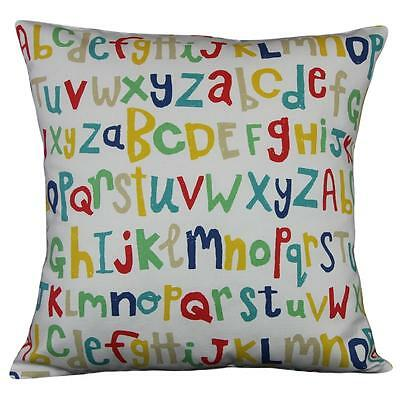 "Cushion cover in Letters Play Scion fabric 17"" / 43cm square. 100% cotton"