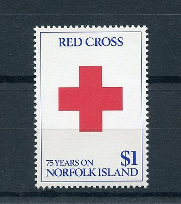 Norfolk Island 1989 MNH Red Cross 75 Years 1v Set Medical Health Stamps