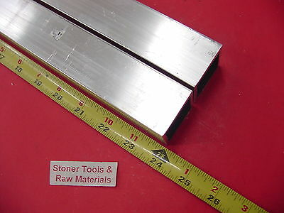 "2 Pieces 1""x 1""x 1/8"" Wall x 24"" Long ALUMINUM SQUARE TUBE 6063 T52 1""SQ x .125"""