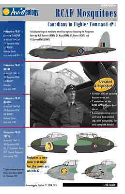 RCAF Mosquitoes of 418 Sqn – CinFC1 – 1/48 scale Aviaeology Decals 'n Docs