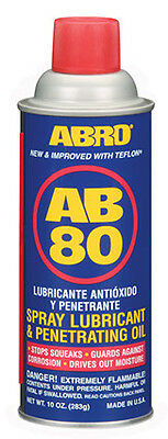 ABRO AB-80 Penetrating Releasing Rust Cleaning Mainten Spray Oil Lubricant 283g