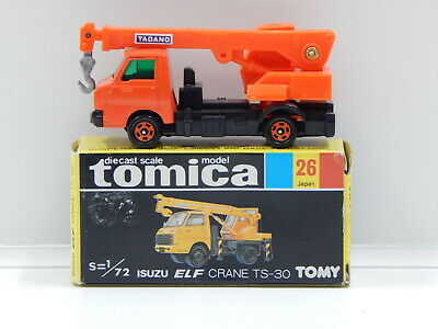 1:72 Isuzu Elf Crane TS-30 (Orange) - Made in Japan Tomica 26