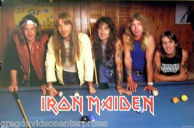 Iron Maiden 23x35 Pool Table Billiards Group Poster 1984