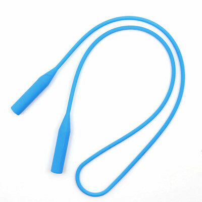Silicone Eyeglasses Strap Glasses Sunglasses Sports Band Holder Sky Blue