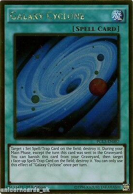 PGL3-EN087 Galaxy Cyclone Gold Rare 1st edition Mint YuGiOh Card