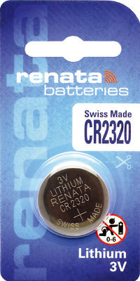 1 x Renata CR2320 Watch Batteries, 3V Lithium, 2320 3 Volts
