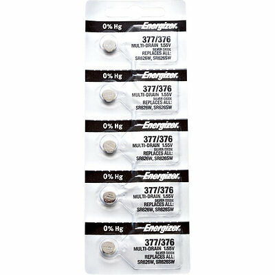 20 x Energizer 377 Watch Batteries, 0% MERCURY equivilate SR626SW