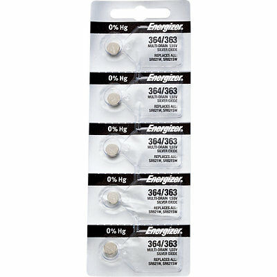 20 x Energizer 364 Watch Batteries, 0% MERCURY equivilate SR621SW