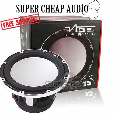 "Vibe Space15D2-V4 15"" 3600W 1200W Rms Subwoofer Car Audio 2 Ohm Dvc Sub Bass Spl"