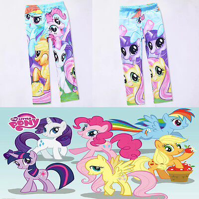 My Little Pony Baby Kids Girls Leggings Pants Colorful Party Pageant Trousers