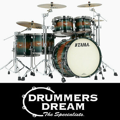 NEW Tama Starclassic Bubinga 5 Piece Jungle Quilted Bubinga Burst Drum Shell Kit