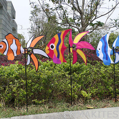 3D Sea Fish Colorful Wind Spinner Wings Twist in the Wind Outdoor Decor Toys Kid