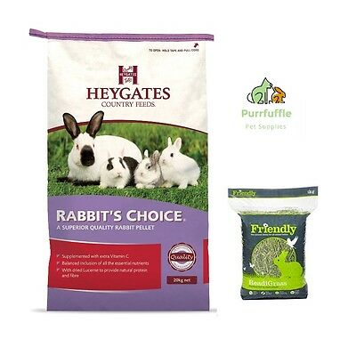 20kg Heygates Rabbit's Choice Pellets Rabbit / Guinea Pig Food + 4kg Readigrass