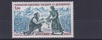 French Andorra 1963  S G F188  1F Deep Blueish Green Blue& Red Brown  M / N / H