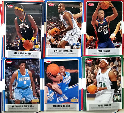 Lot 15 Cartes NBA basket cards SANS DOUBLES Fleer 2007 2008