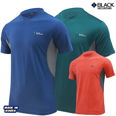 Black Mountain  Functional Outdoor Summer Short-sleeved Sober Round T-shirt