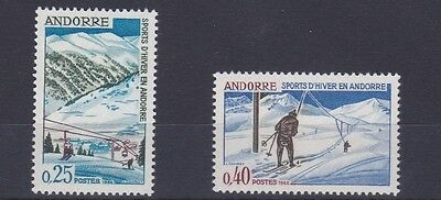 French Andorra  1966 S G F195 - F196   Winter Sports       M / N / H