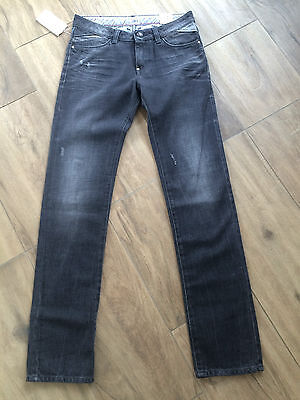 ARMANI JUNIOR Coole Boys Jeans Hose schwarz USED LooK Regular Fit NP 139,00