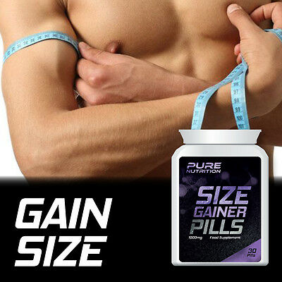 Pure Nutrition Size Gainer Pills – Gain Size Tablet Weight Increase Muscles