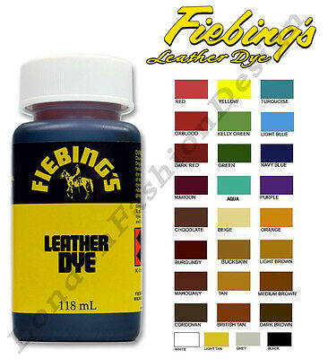 Fiebing's Leather Colourant For Repair & Recolour Dye Stain Pigment All Colours