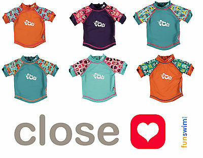 Close Parent Pop In Baby Tots Rash Vest Swim Top UV Protection UPF50+