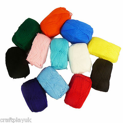 Wool Jumbo Pack 12 Balls of Double Knit Knitting Yarn 12 X 95g!!
