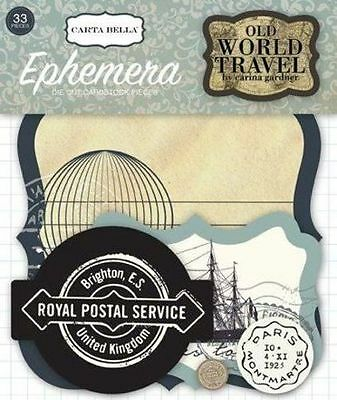 "Carta Bella ""old World Travel"" Ephemera Die Cuts (33Pcs) Scrapjack's Place"
