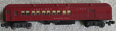 REDUCED: American Flyer 953 Maroon Heavyweight Pullman Combo Car Silhouettes VG+