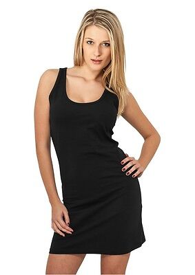 Urban Classics Ladies Sleeveless Dress schwarz in Größe XS-XL