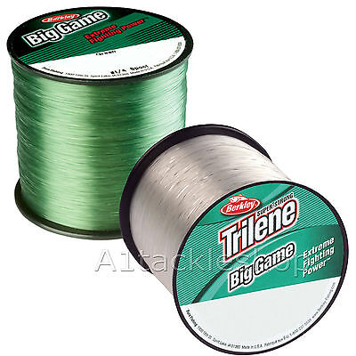 Berkley Trilene Big Game Fishing Line Monofilament  Green or Clear